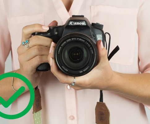 Are you holding your camera properly?